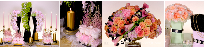 Flower Trends Forecast 2014 revival Flowers.  Calla, Cymbidium Orchids, White Tulip, Astilbe, Pink Peony, Green Carantion