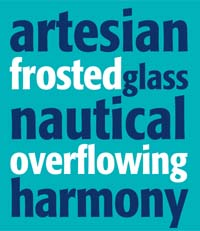 Force of Nature: artesian frosted glass nautical overflowing harmony