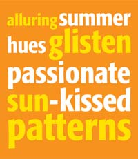 alluring summer hues glisten passionate sun-kissed patterns