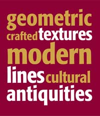 geometric crafted textures modern lines cultural antiquities