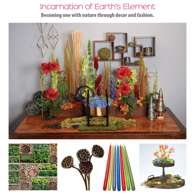 Incarnation of Earth's Element Becoming one with nature through decor and fashion