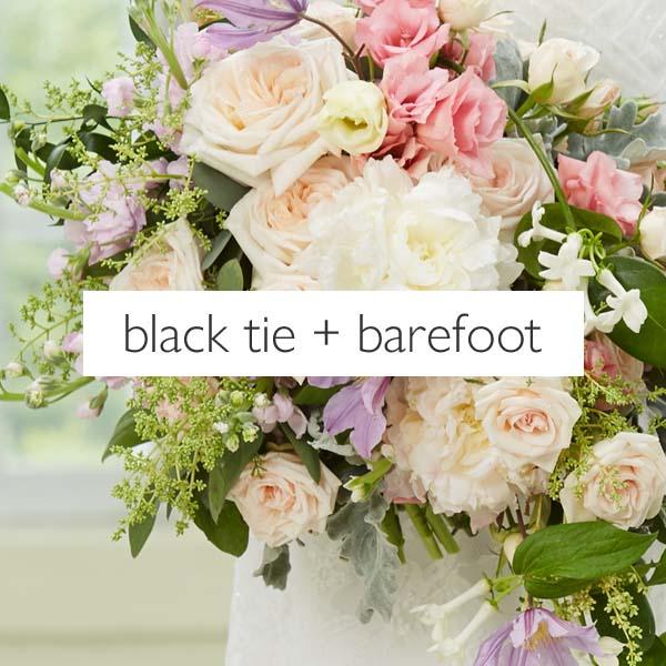 black tie barefoot