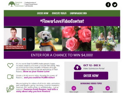 Flower Love Video Contest
