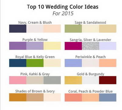 Elegant Wedding Invites Color Ideas 2015