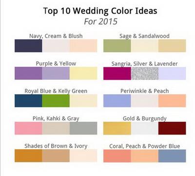 Elegant Wedding Invites Color Ideas 2015