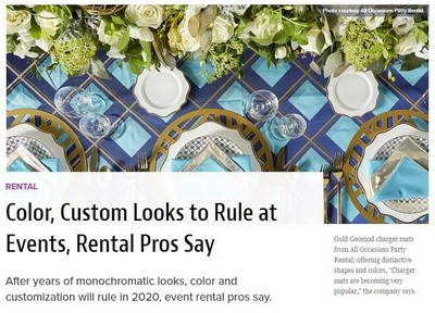Color, Custom Looks to Rule at Events