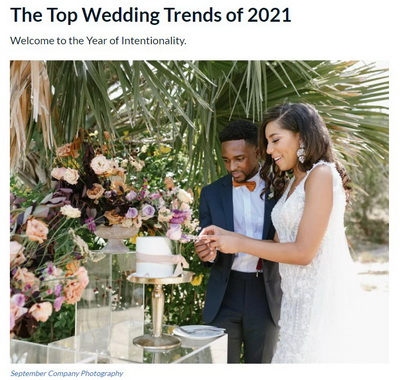 2021 Weddings - Year of Intentionality