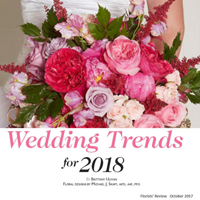 Florists' Review Wedding Trends 2018